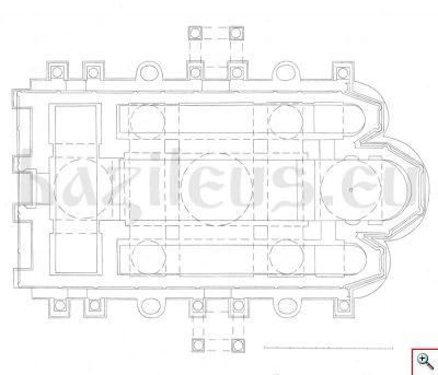Възстановка на плана на Дворцовата църква